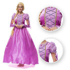 Fairy Tale Tangled Rapunnzel Cosplay Costume Priness Adult Ball Grown Dress