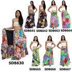 Skirt SDB630x Thailand Cotton Patchwork Long Sun Wrap Sarong Boho Gypsy Hippie