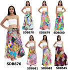 Skirt SDB676x Cotton Thailand Patchwork Long Wrap Sarong Boho Gypsy Hippie Beach