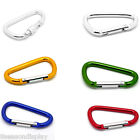 5 PCs Carabiners Climbing Camp Keychains Clips Hooks M1461