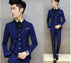 3 pieces men two button slim fit wedding party suits short jacket pants vest new