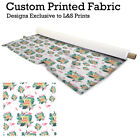 Hello Summer Bird Craft Fabrics Designer Digital Print 1M X 1.5 Metre Long