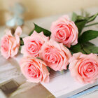 20 Head Rose Artifical Flowers Real Latex Touch Wedding Party Home Bouquet Decor