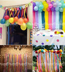 6X Crepe Paper Rolls 81ft - Streamer Wedding Birthday Party Decoration Curtain