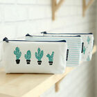 Cute Cactus Pattern Pencil Pen Case Bag Cosmetic Makeup Storage Bag Purse