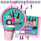 SPARKLE SPA! Birthday Party Range - Make Up Nails Girl Tableware & Decorations