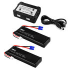 Charger + 2pcs/1pcs 7.4V 2700mAh Li-po Battery Black for Hubsan H501S X4 Quad