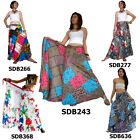 Skirt SDB243 Thai Cotton Patchwork Festival Long Wrap Sarong Boho Gypsy Hippy
