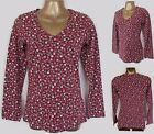 NEW Ex Seasalt Brown Sea Ditsy Floral Top T Shirt  Size 8-20UK