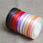 25 Yards/Roll 10mm 12mm Gold Edge Satin Ribbon Bow Wedding Multi Craft Supplies