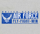 U.S. Air Force Sport Band USAF GRAY Adult T-shirt