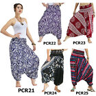 Pants PCR2125 Thai 2in1 Jumpsuit Harem Yoga Boho Genie Aladdin Baggy Flowy Women