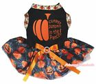 Halloween Black Top Half Cutest Pumpkin in Patch Spider Web Tutu Dog Puppy Dress