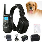 300 Yard Pet Dog Training Collar Rechargeable/Battery Electric LCD 100LV Shock