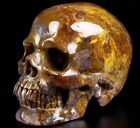 "Gemstone Huge 5.2"" PIETERSITE Carved Crystal Skull, Super Realistic #596"