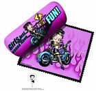 BETTY BOOP EYEGLASS CASE BIKER  DESIGN $15.99 USD