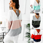 Fashion Womens Autumn Lace Up Pullover T Shirt Long Sleeve Blouse Tops Hoodies