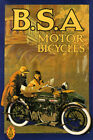 BSA Motor Bicycle Motorcycle Couple Travel Tourism Vintage Poster Repo FREE S/H