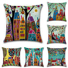 18''x18'' Geometric Linen Cotton Pillow Case Cushion Cover Home Sofa Decors J94