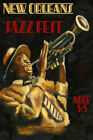 New Orleans Jazz Festival Music Trumpet Vintage Poster Repro FREE SHIP in USA