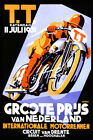 1931 Motorcycle TT Bike Race Netherlands Holland Vintage Poster Repro FREE S/H