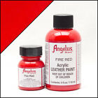 Angelus Brand Acrylic Leather Paint for Shoes / Sneakers - Fire Red - 1oz / 4oz