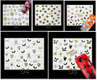 Nail Sticker Nagelsticker Motiv Aufkleber Nailart Decals HALLOWEEN GOLD FUN