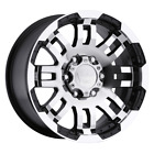 1 New 20X9 10 Offset  5x127 VISION Warrior Black  Wheel/Rim