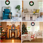 Home Christmas Wreath Wall Ornament Garland Xmas Party Decoration Red Bowknot