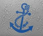 Anchor Vinyl Sticker Decal Maritime Boat Dinghy Ship Canoe Yacht - Larger sizes