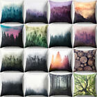 18 Inch Forest Tree Throw Pillow Case Cushion Cover Home Sof