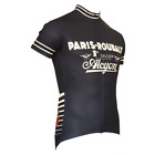 PARIS ROUBAIX MEN'S SHORT SLEEVE CYCLING JERSEY- by Retro Image Apparel