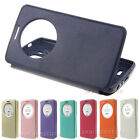 View Window Slim Wallet Leather Flip Case Cover Stand Card For LG G3 G4 Stylus
