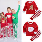 Cute Kids Baby Boy Girls Deer Sleepwear Nightwear Pajamas Set Christmas Gifts