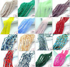 faceted glass beads - Wholesale 200pcs Faceted Glass Crystal Charms Rondelle Loose Spacer Beads 3mm