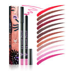 HUAMIANLI 12 Color Lip Liner Pencil Lipstick Pen Matte Long Lasting Waterproof
