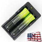 60/100PCS Li-ion 18650 3.7V Rechargeable Battery For LED Flashlight Torch USA T-