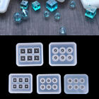 Crystal Geometric Jewelry Mold Pendant Silicone Ornament Resin DIY Craft ToolsJR