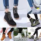 Women's Girls Winter and Autumn Outdoor Work Casual Waterproof Lace up Shoes