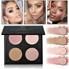 4 Colors Face Powder Palette Glow Stick Highlighter Bronzer Makeup Cosmetics Kit