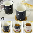 NEW Magic Ceramic Color Changing Cup Heating Discoloration Coffee Mug Ship Cup