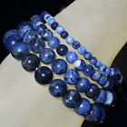 Handmade Natural Gemstone Round Beads Stretch Bracelet 4mm 6mm 8mm 10mm 7.5""