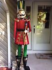 """76"""" Tall Iron Metal Nutcracker Christmas Decoration Indoor/Outdoor Toy Soldier"""