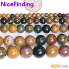 """Natural Mixed Color Rainbow Ocean Jasper Gemstone Beads For Jewelry Making 15"""""""