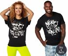 Zumba ~ NEVER STOP DANCING GRAPHIC TEE - Unisex - size XS/S Black ~ Free Ship
