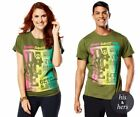 Zumba ~ OFFICIAL KINGSTON TEE - Unisex - size XS/S Olive Green - Free Ship