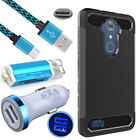 Car Charger+USB C Cable+Card Reader+CaseFor ZTE Zmax Pro Z981 MAX XL Blade X Max