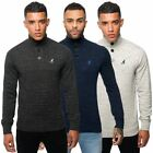 Kangol Mens Knitwear Button Up Polo Neck Henley Jumper Casual Long Sleeve Top