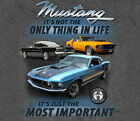 Ford Mustang Most Important Thing In Life GRAY Adult T-shirt