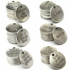 Внешний вид - 10Pcs Silver Love Heart Beads Metal Charms Words Handmade Charm Pendant Jewelry